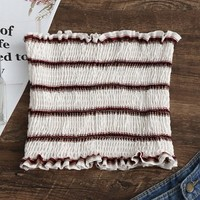 Smocked Stripes Tube Top