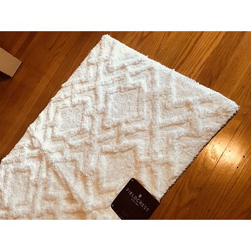 Spa Flat White Bath Rug - Threshold