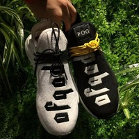 Best Online Sale Fear of God FOG x Adidas NMD Pharrell Williams Human Race Sport Running Shoes Classic Casual Shoes Sneakers