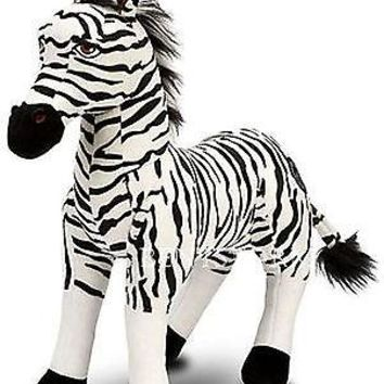 "Licensed cool NEW Disney Store Lion King  Deluxe 15"" Plush Black White Zebra Stuffed Kids Toy"