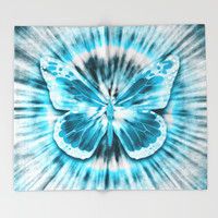 Rising Butterfly Throw Blanket by Octavia Soldani | Society6