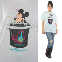 Mickey Mouse shirt Burger King shirt Hidden surprise shirt Disney World Anniversary shirt Mickey Magic hat shirt XL Extra Large