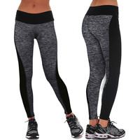 Compression Athletic Gym Workout Yoga High Waist Stretched Women's Sports Leggings