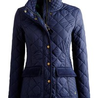 Marine Navy Moredale Womens Quilted Jacket | Joules UK