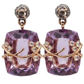 Federica Rettore amethyst drop earrings