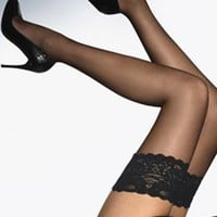 Buy Wolford Luxury Lingerie - Wolford Satin Touch 20 Stay-Up  | Journelle Fine Lingerie