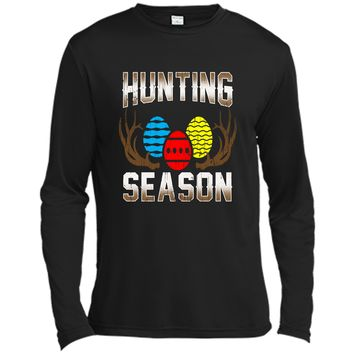 Hunting Season- Funny Easter Egg Hunting Tshirt Gift Apparel Long Sleeve Moisture Absorbing Shirt