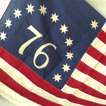 Vintage Bicentennial American Flag, Old American Flag
