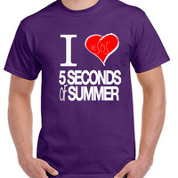 5 Seconds of Summer I Heart T-shirt