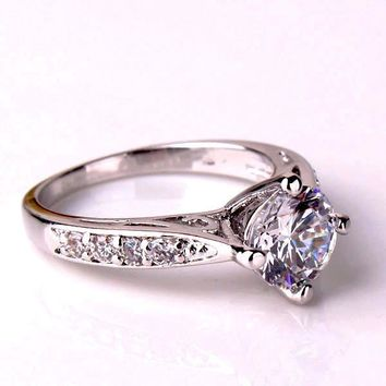 ON SALE - Vintage Filigree Channel Set Round CZ Solitaire Engagement Ring aee285185