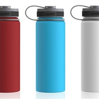 Double Wall Vacuum Insulated Stainless Steel Water Bottle by ASOBU Alpine Flask TheWateBottleStore.com