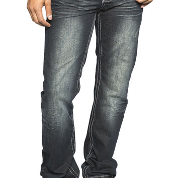 Guys Straight Leg Jean - Dark Stone Wash