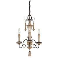 Provence 3-Light Mini Chandelier, Patina, Ceiling Chandeliers