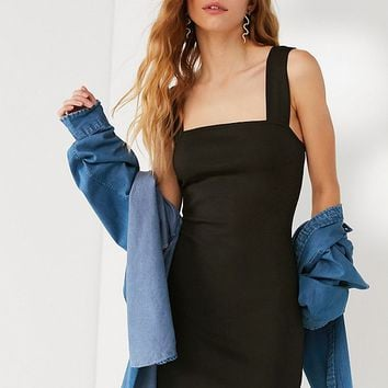 UO Mimi Square-Neck Ponte Mini Dress | Urban Outfitters