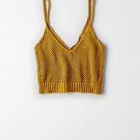 Don't Ask Why Cropped Sweater, Mustard