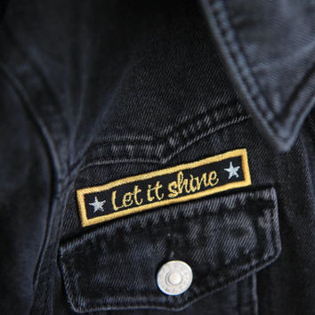 LET IT SHINE / embroidered patch / iron on patches / christmas embroidery