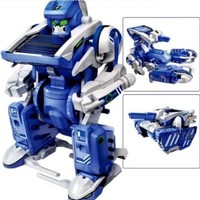 3-in-1 Educational T3 Solar Transforming Robot Science Kit DIY