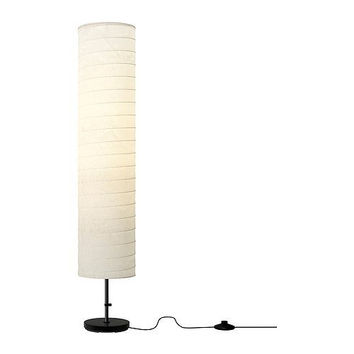 46-inch Modern Rice Paper Shade Floor Lamp