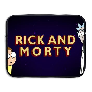Rick And Morty Neoprene Sleeve Case Bag Pouch Carrying Holder Protector For Notebook Computer/Laptop/Macbook Air/Macbook Pro Waterproof Cover