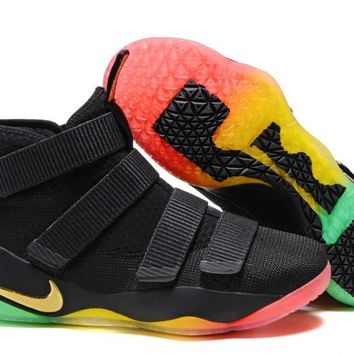 Nike Men's Lebron James Soldier 11 Colorful Basketball Shoes