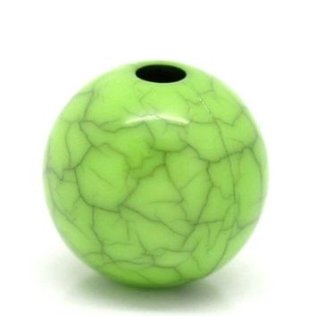 Pack of 50 Light Green and Grey Acrylic Beads. 10mm Diameter.  Crack Patterned Faux Gem. Art, Crafts, Macrame, Weaving & Jewellery Making
