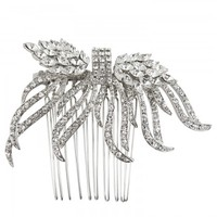 Joan Swarovski crystal embellished hair comb