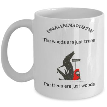 The Woods Are Just Trees.  The Trees Are Just Woods Mug