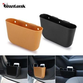 Fashion New Mini Auto Car vehicle Trash Rubbish Can Garbage Dust Case Holder Box  Phone Holder Bag Hanging Box Car Styling