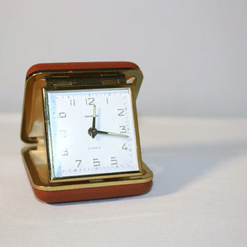 Vintage Swania Travel Alarm Clock Made in Germany