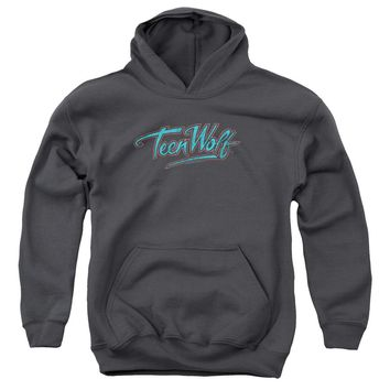 Teen Wolf - Neon Logo Youth Pull Over Hoodie