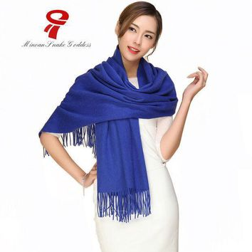 Scarf Long Wool Cashmere Scarf Big Size  Cape Female Winter Luxury Brand Spring Autumn Wrap Thicken Warm Pashmina Shawl