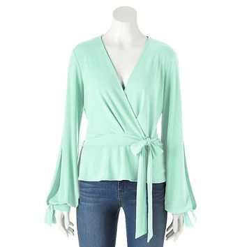 Women's Jennifer Lopez Faux-Wrap Top
