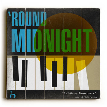 Round Midnight by Artist Cory Steffen Wood Sign