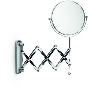 LB Wall Double Sided 3X Cosmetic Makeup Magnifying Extandable Mirror Chrome