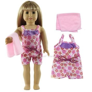 Swimming Pool beach 1 Set Swimming Suit Outfit Doll Clothes for 18'' American Girl A48Swimming Pool beach KO_14_1