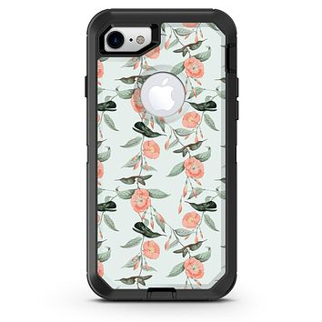 The Coral Flower and Hummingbird All Over Pattern - iPhone 7 or 8 OtterBox Case & Skin Kits