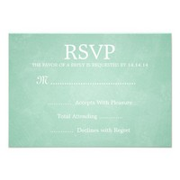 Elegant Wedding RSVP Romantic Paris Mint Green Personalized Announcement from Zazzle.com