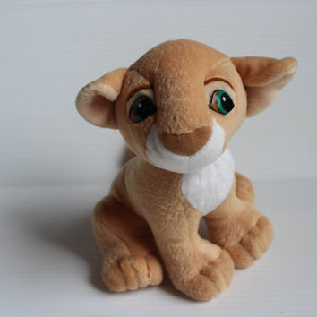 NALA STUFFED ANIMAL,1993 Vintage Stuffed Animal, Authentic Disney Plush, Nala from The Lion King, Nala stuffed Lion, plush lion from Disney