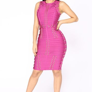 Mojito Mini Dress - Magenta