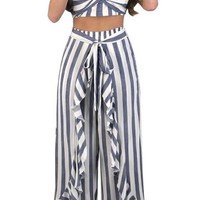 Two Piece Long Pants Jumpsuit