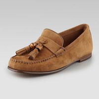 Buck Soft Suede Moccasin, Maple Brown