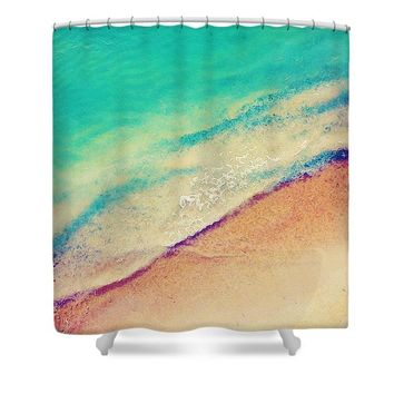 Sea La Vie Watercolor Art By Adam Asar - Asar Studios - Shower Curtain