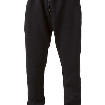 En Noir quilted sweat trousers