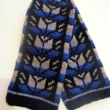 Warm unisex wool mittens, handmade from Latvia. Hand knitted wool mittens, latvian mittens, patterned mittens,arm warmer, Christmas gift