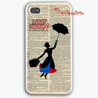 Mary Poppins iphone 4 case, iphone case, iphone 4s case, iphone 4s, iphone 4 cover, iphone hard case, iphone 4, iphone