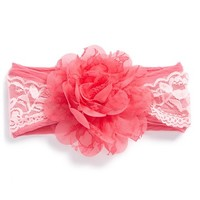 Baby Bling Lace & Chiffon Flower Headband