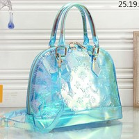 Free shipping-LV new transparent embossed logo jelly bag handbag #1
