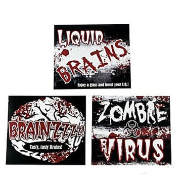 Zombie Bash Party Bottle Label-12 count