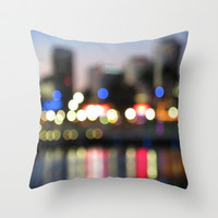 The City Never Sleeps Throw Pillow by RichCaspian