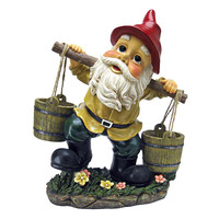 Park Avenue Collection Barney Two Buckets Garden Gnome Statue
